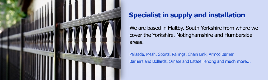 Specialist in supply and installation - We are based in Maltby, South Yorkshire from where we cover the Yorkshire, Nottinghamshire and Humberside areas.